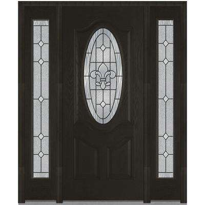 exterior doors for home. 64 5 in  x 81 75 Carrollton Decorative Glass 3 4 Oval Finished Fiberglass Front Doors Exterior The Home Depot