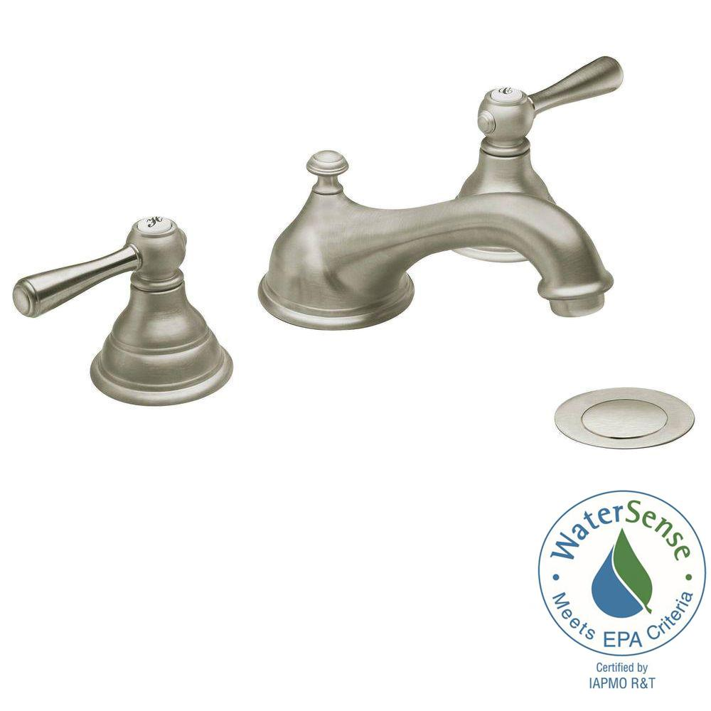 MOEN Kingsley 8 in. Widespread 2-Handle Low-Arc Bathroom Faucet Trim ...