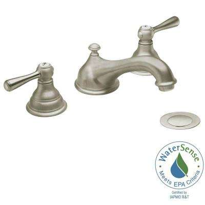 Kingsley 8 in. Widespread 2-Handle Low-Arc Bathroom Faucet Trim Kit in Brushed Nickel (Valve Not Included)