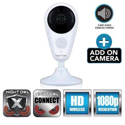 Add-On Indoor Wireless 1080p AC Powered Surveillance Camera