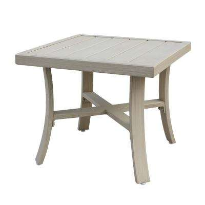 Torino Collection Square Aluminum Outdoor Side Table