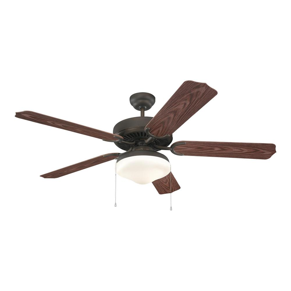 Monte Carlo Weatherford Deluxe 52 in. Roman Bronze ABS with American Walnut Blades Ceiling Fan