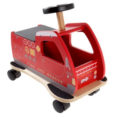 Fire Truck Ride-on Toy Box