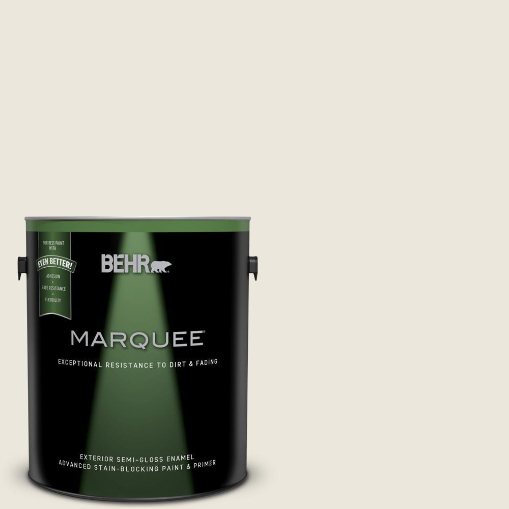 1-gal. #BXC-32 Picket Fence White Semi-Gloss Enamel Exterior Paint