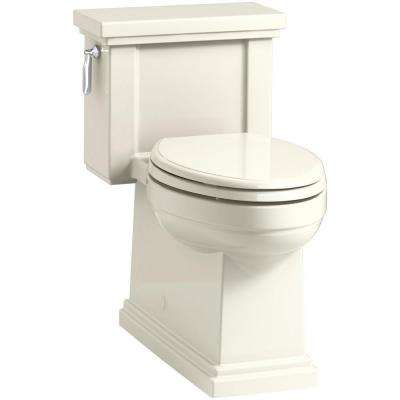 Tresham 1-piece 1.28 GPF Single Flush Elongated Toilet in Biscuit