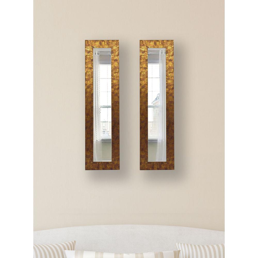 7.5 in. x 33.5 in. Safari Bronze Vanity Mirror (Set of 2-Panels)