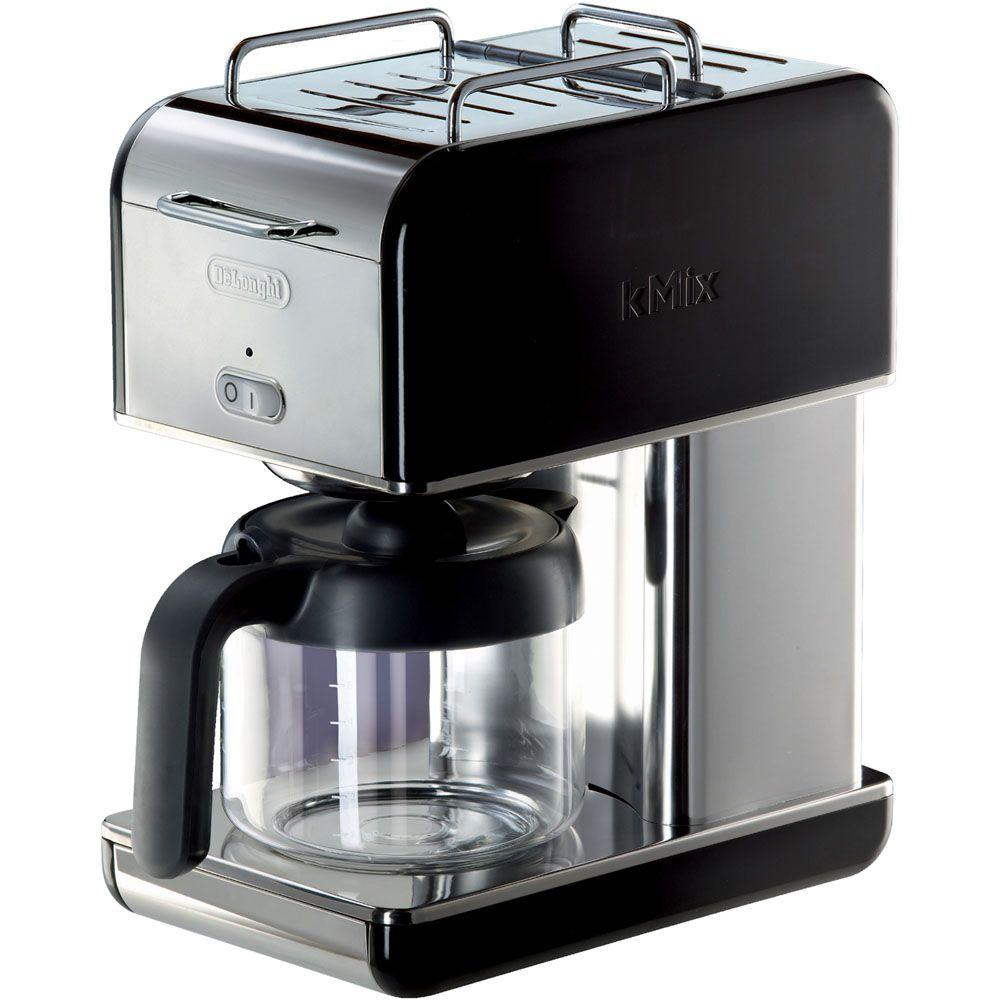 DeLonghi kMix 10-Cup Coffee Maker in Black-DISCONTINUED