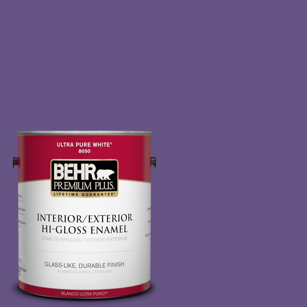 BEHR Premium Plus 1-gal. #640B-7 Berry Jam Hi-Gloss Enamel Interior/Exterior Paint