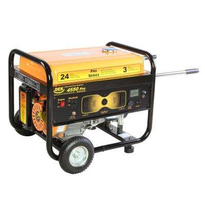 Pro Series 4550-Watt Gasoline Powered Portable Generator with 170cc 100% Copper Alternator and 12 Gallon Gas Tank