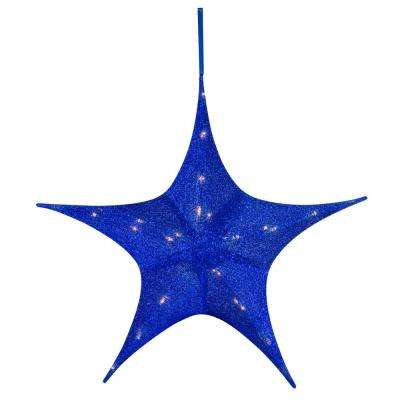 25 in. Blue Tinsel Star