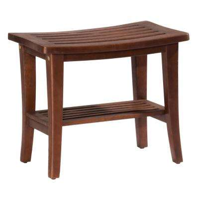 Preston Walnut Rectangular Vanity Stool