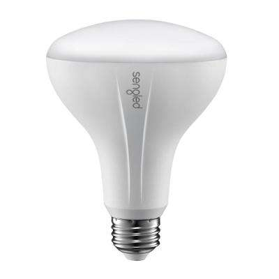 Element Classic 65W Equivalent Soft White BR30 Dimmable LED Light Bulb, White