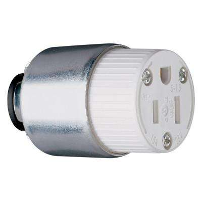 15-Amp 125-Volt Armored Connector