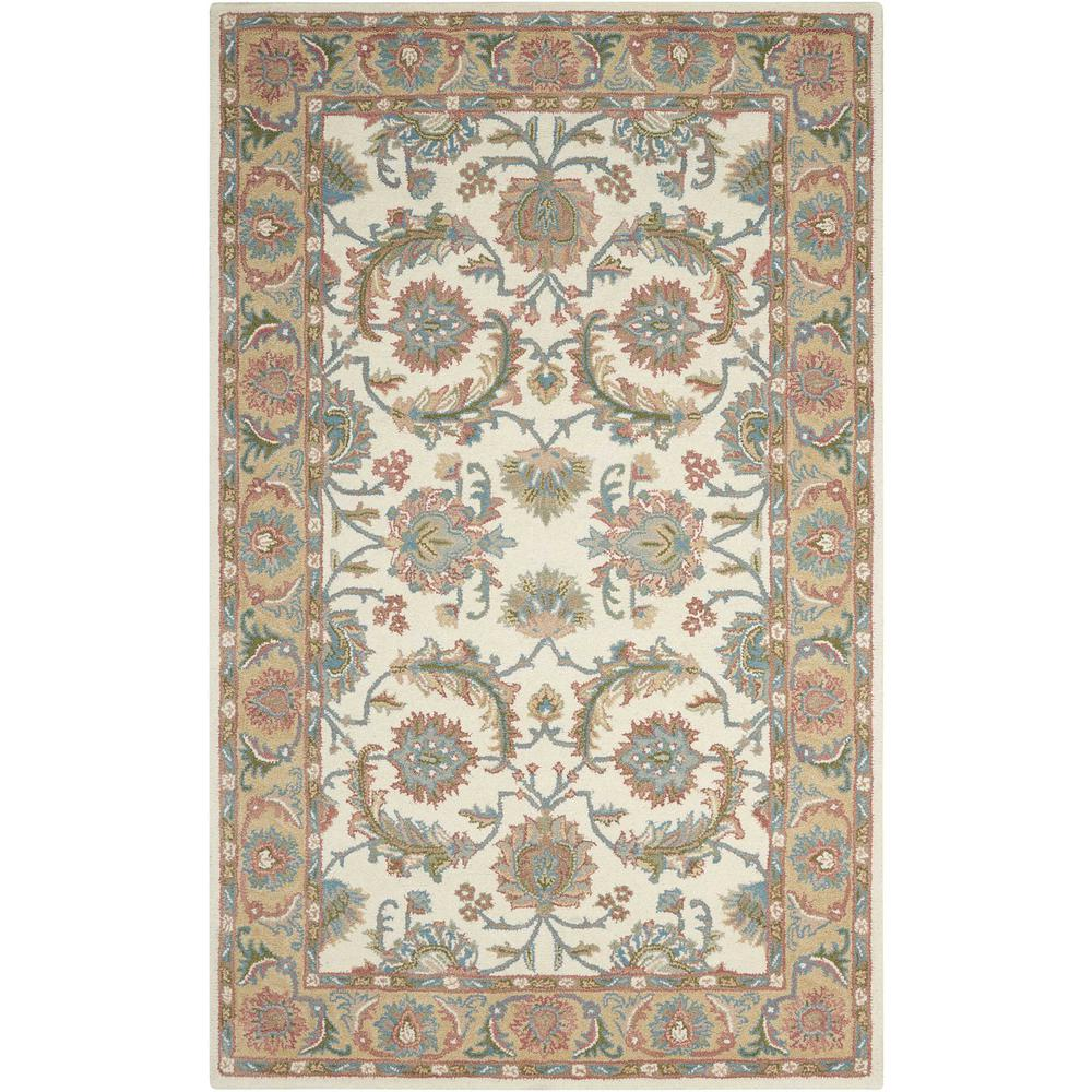 Nourison India House Ivory Gold 5 Ft X 8 Area Rug 338471