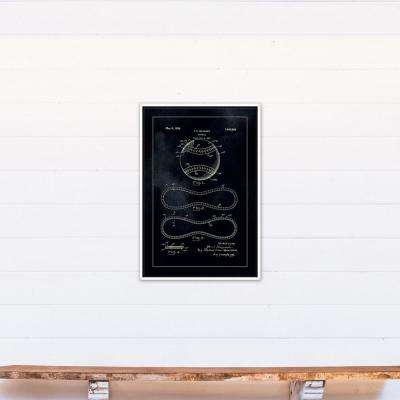 20 in. x 30 in. ''Baseball Patent Print 1928'' Printed Framed Canvas Wall Art