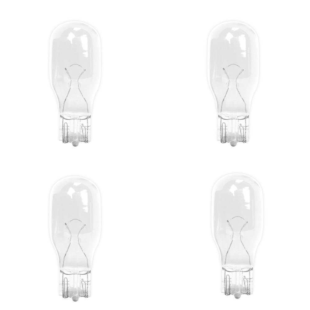 18-Watt Bright White (3000K) T5 Wedge Base Dimmable 12-Volt Landscape Garden Incandescent Light Bulb (4-Pack)