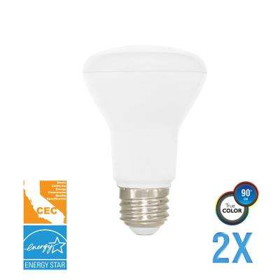 50W Equivalent Soft White BR20 Dimmable LED CEC-Certified Light Bulb (2-Pack)