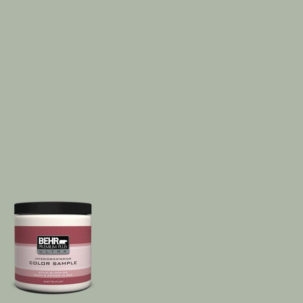 Behr Premium Plus Ultra 8 Oz Icc 56 Green Tea Matte Interior