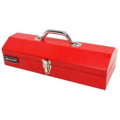 16 in. Metal Tool Box, Red