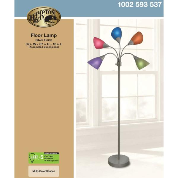 5 ARM ARC FLOOR LAMP GLASS REPLACEMENT SHADES