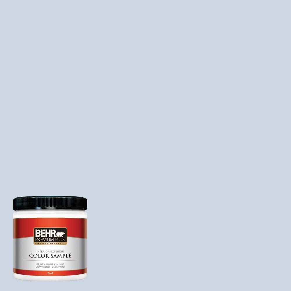 BEHR Premium Plus 8 oz. #ICC-35 Blue Reflection Interior/Exterior Paint Sample