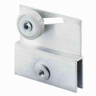 Aluminum Roller Bracket for Sliding Frameless Shower Doors (2-Pack)