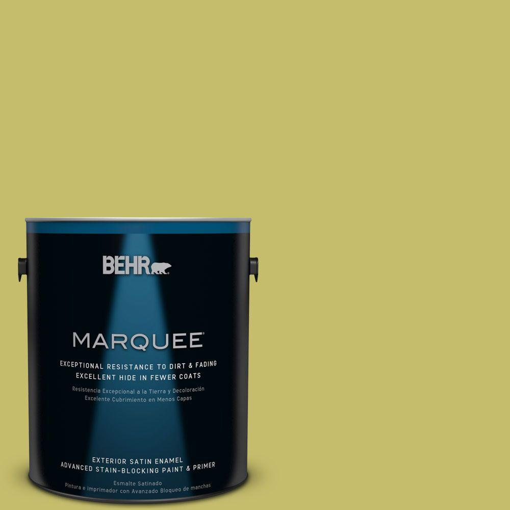 1-gal. #P350-5 Go Go Lime Satin Enamel Exterior Paint