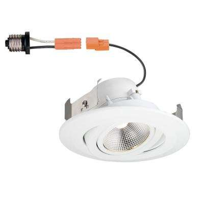 Recessed lighting lighting the home depot white integrated led recessed gimbal trim with pivot and rotate aloadofball Choice Image