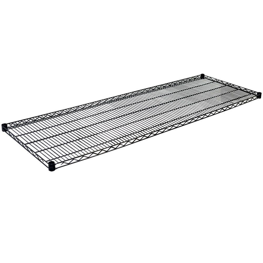 1.5 in. H x 72 in. W x 24 in. D Steel Wire Shelf in Black