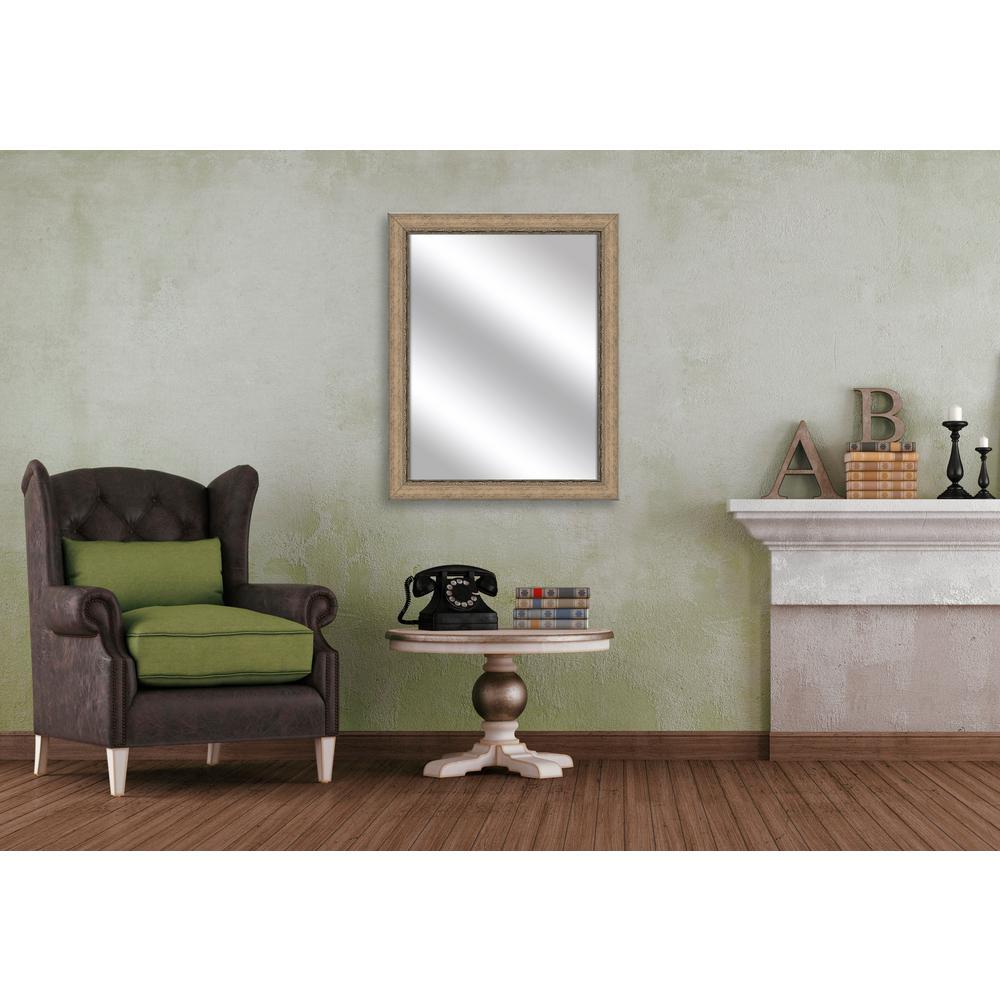 Medium Rectangle Medium Champagne Art Deco Mirror (31.75 in. H x 25.75 in. W)