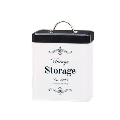 Antique Shoppe 96 oz. Metal Storage Canister with Rectangular Shape