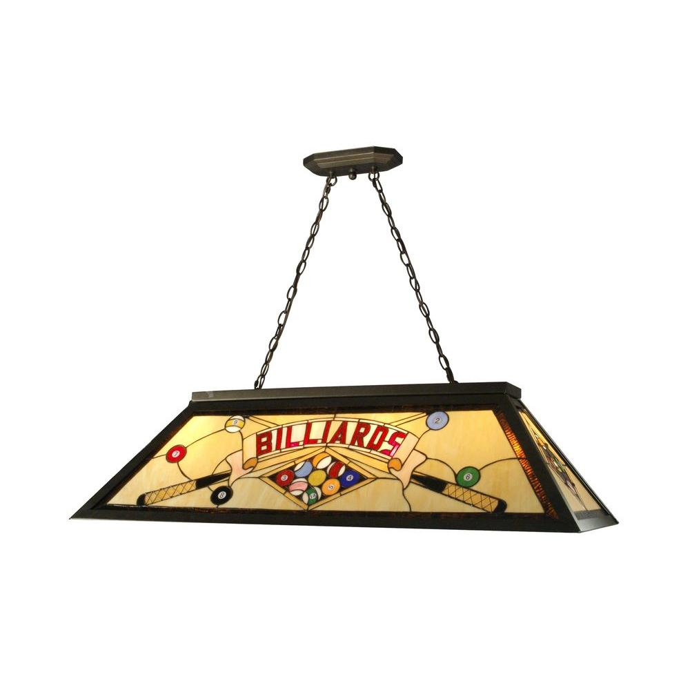 Springdale Lighting 4 Light Antique Bronze Billiard Pool Table Hanging Fixture