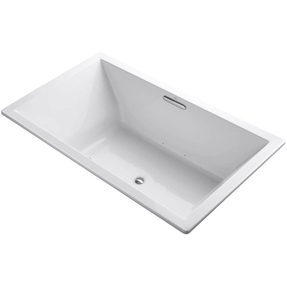 Underscore 6 ft. Center Drain Rectangular Drop-in Air Bath Tub in
