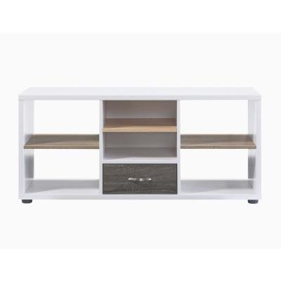 Aluin White and Natural Tone 47.25 in. TV Stand