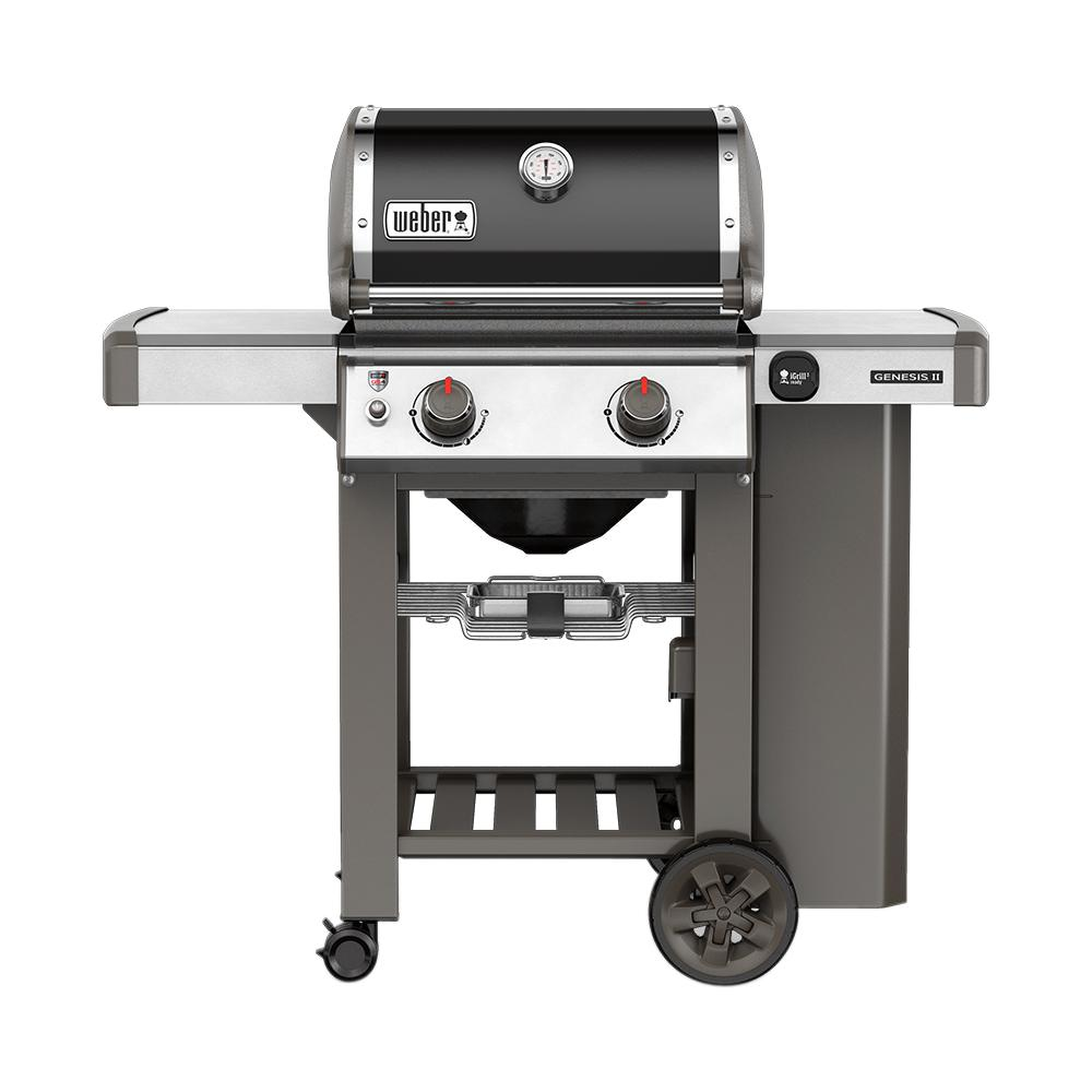 Weber Genesis II E-210 2-Burner Propane Gas Grill in Black with Built - Weber Genesis II E-210 2-Burner Propane Gas Grill In Black With