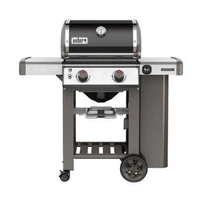 Genesis II E-210 2-Burner Propane Gas Grill in Black with Built-In Thermometer