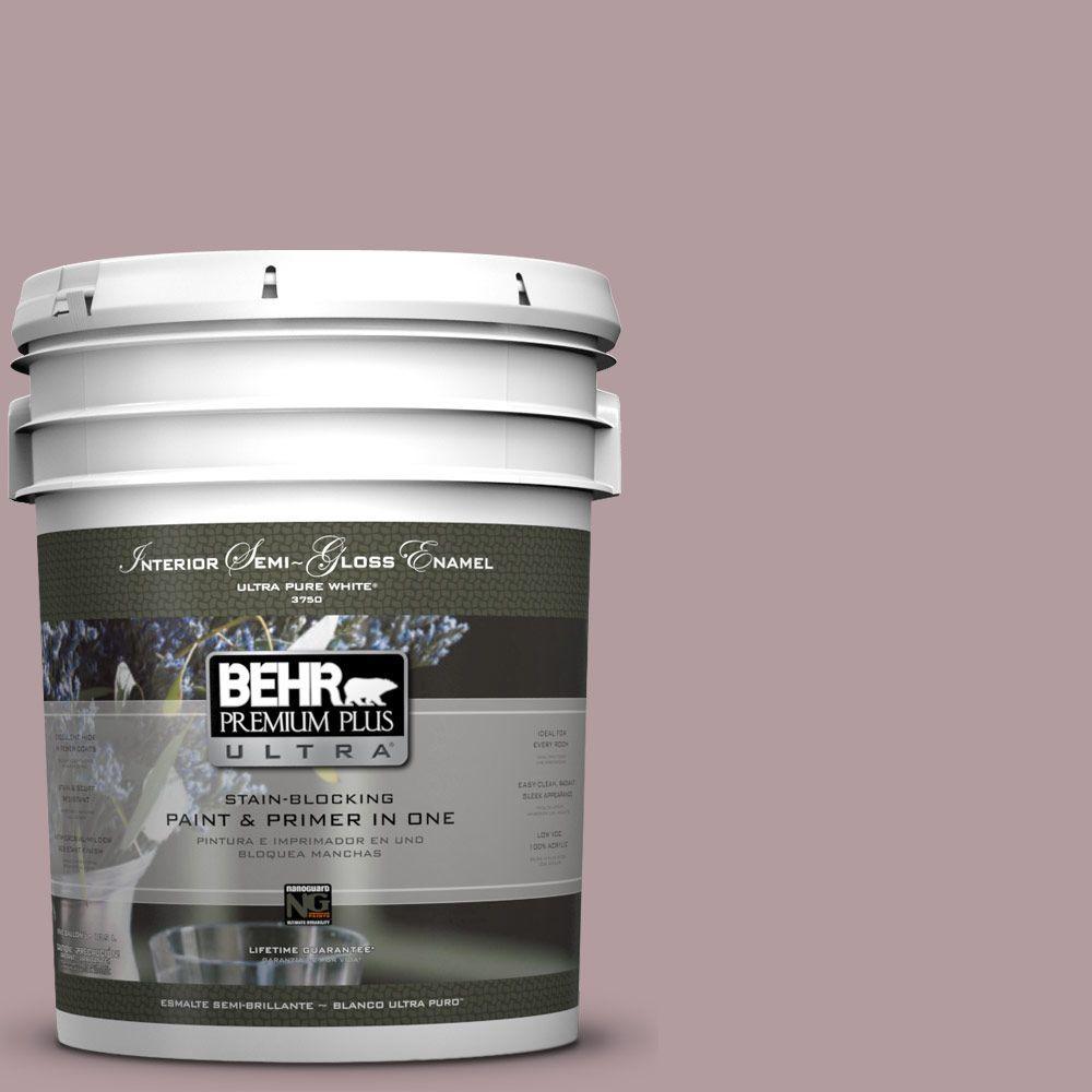 BEHR Premium Plus Ultra 5-gal. #N120-4 Roaring Twenties Semi-Gloss Enamel Interior Paint