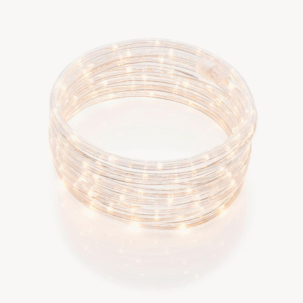 Meilo 18 ft soft white integrated led rope light rl18 sw the home meilo 18 ft soft white integrated led rope light aloadofball