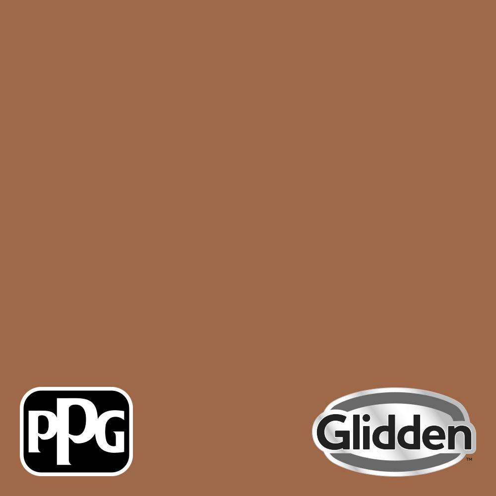 Glidden Essentials 5 Gal Ppg1069 6 Foxfire Brown Semi Gloss Exterior Paint Ppg1069 6esge05 The Home Depot