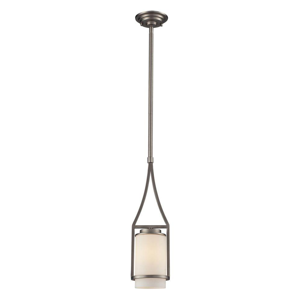 Titan Lighting 1-Light Ceiling Matte Nickel Pendant-DISCONTINUED