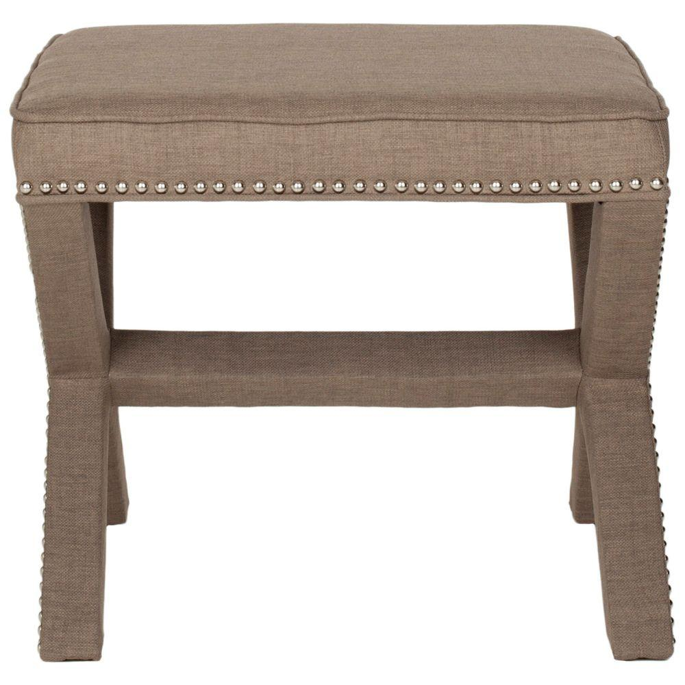 Safavieh Palmer Olive Accent Ottoman Mcr4589p The Home Depot