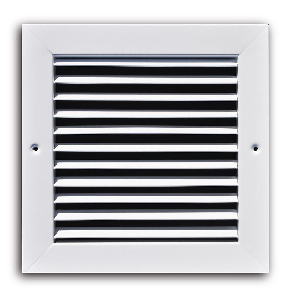 10 in. x 10 in. White Fixed Bar Return Air Grille