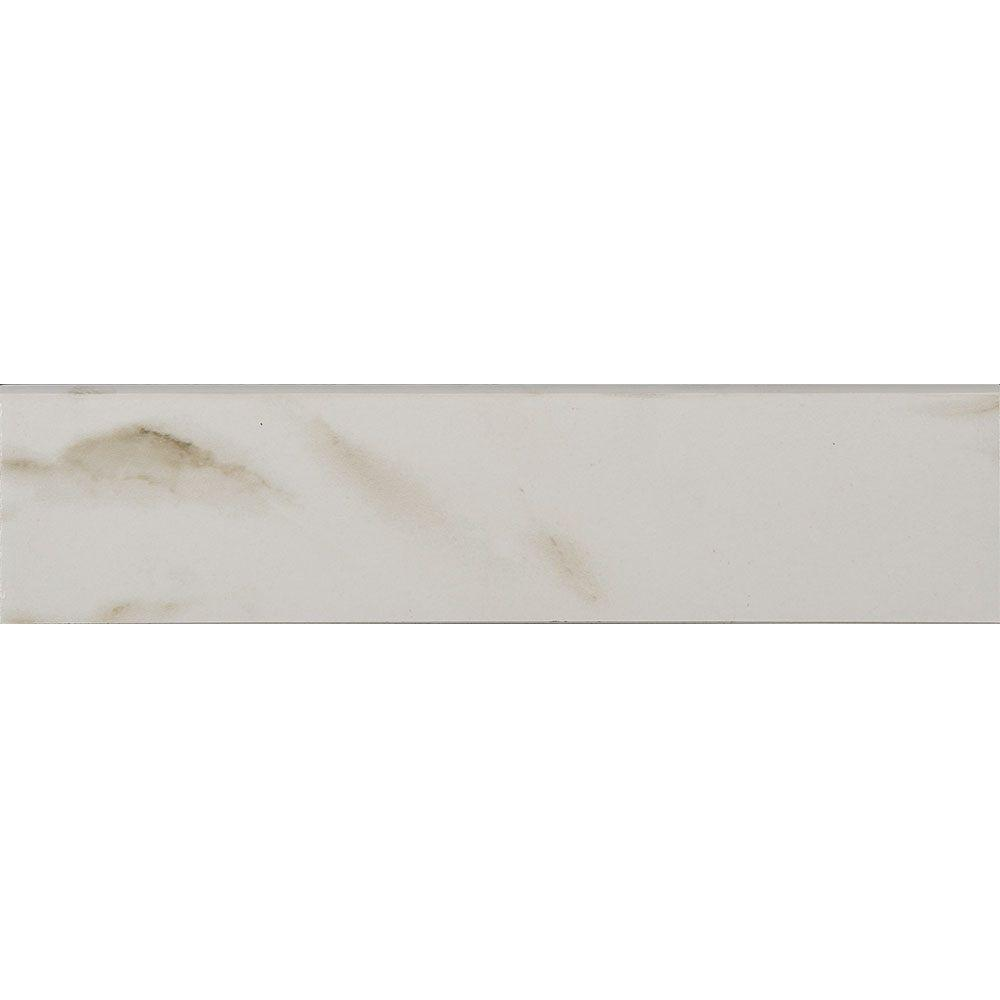 Michelangelo White 3 in. x 12 in. Porcelain Floor and Wall