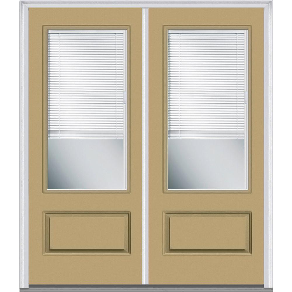 MMI Door 72 In. X 80 In. Internal Blinds Left Hand Inswing 3