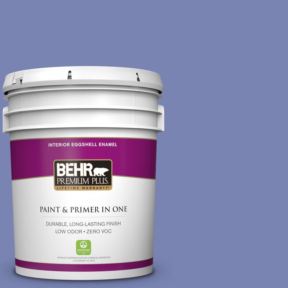 5 gal. #610B-5 Corsican Purple Zero VOC Eggshell Enamel Interior Paint