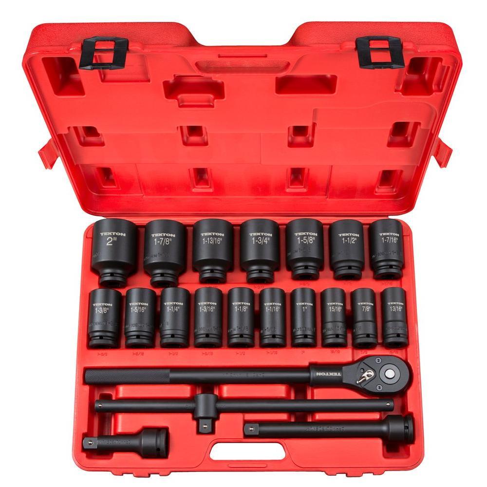 Impact Socket Tool Set Metric Ratchet Wrench Sockets 10pc 1//2 Inch Drive 10-22mm