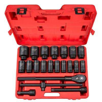 3/4 in. Drive 7/8-2 in. 6-Point Deep Impact Socket Set (22-Piece)