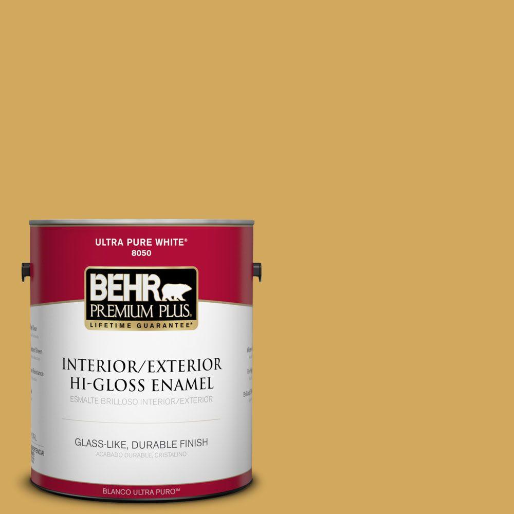 1-gal. #350D-5 French Pale Gold Hi-Gloss Enamel Interior/Exterior Paint