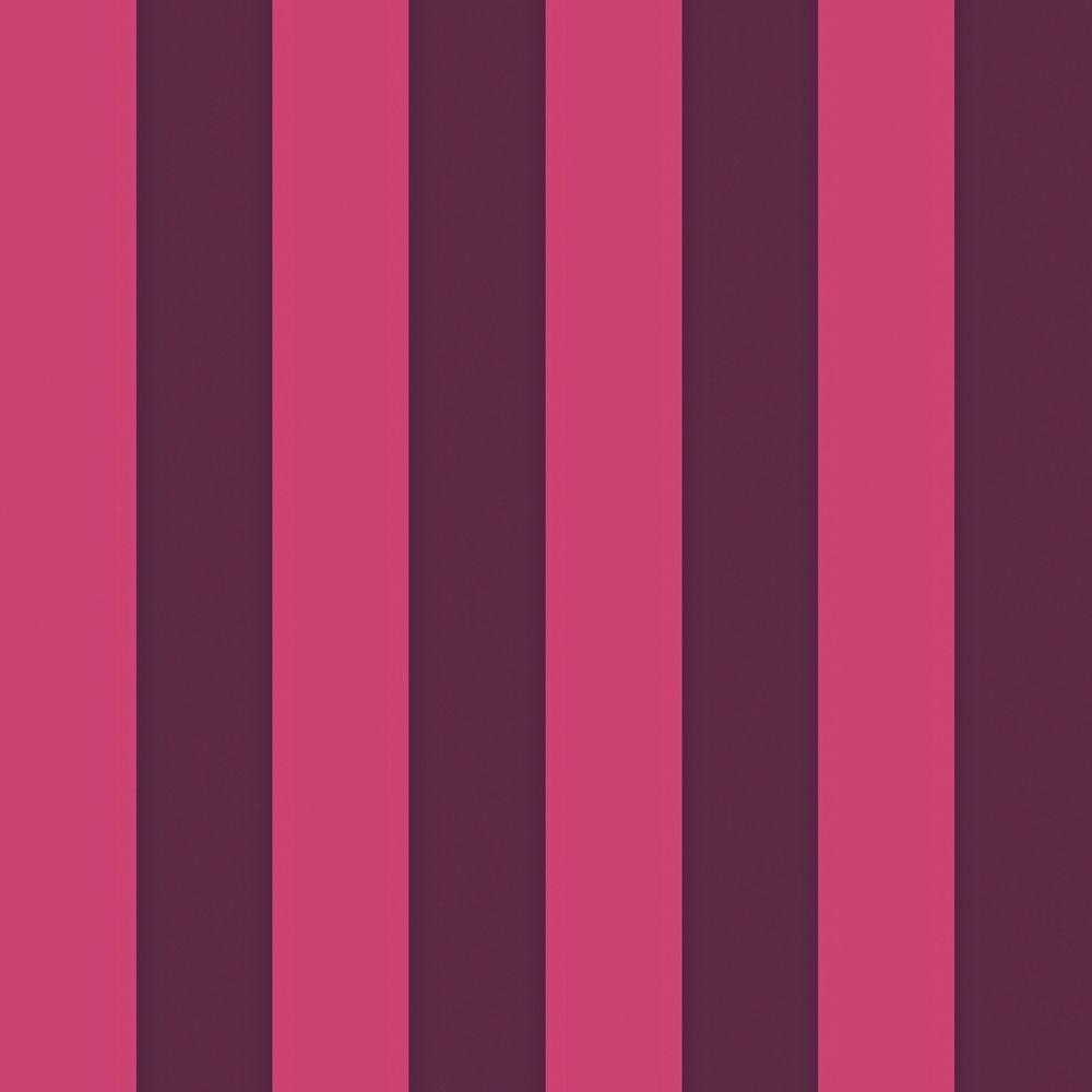 The Wallpaper Company 56 sq. ft. Purple and Magenta Bold Two Color Stripe Wallpaper