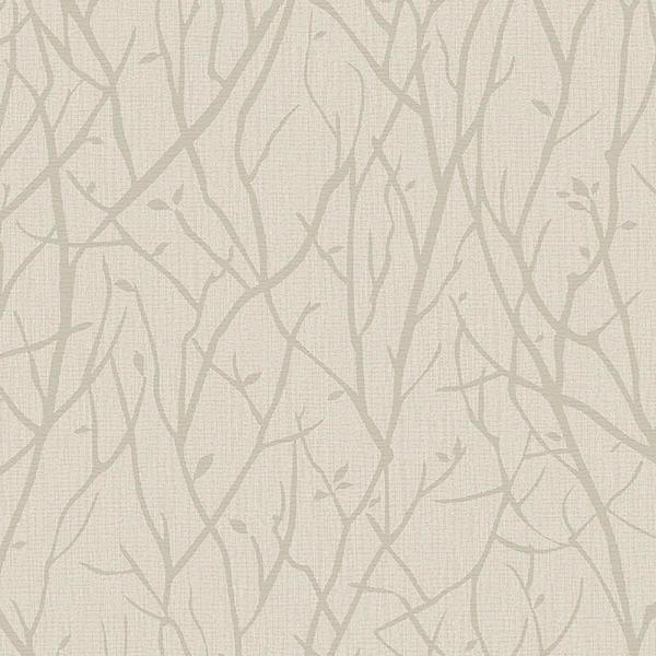 Advantage 8 in. x 10 in. Kaden Beige Branches Wallpaper Sample